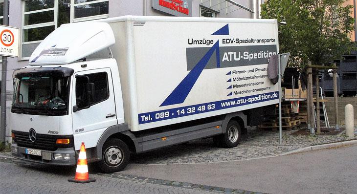 Laster für Firmenumzug in München